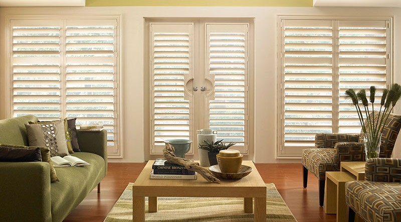 Plantation Shutters on Window and Doors